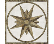 Square  Marble Medallion